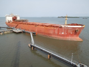 First ship at fuel jetty Sierra Leona