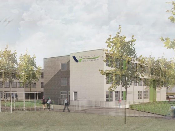 Artists impression Free School in Teesside