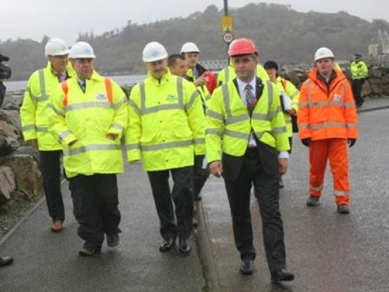 Scotland's First Minister, Alex Salmond MSP, visited Stornoway Harbour