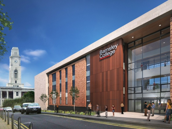 Artist impression Barnsley College Sixth Form Centre