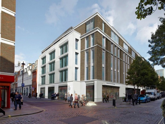 Artist impression St. Lawrence House in Soho