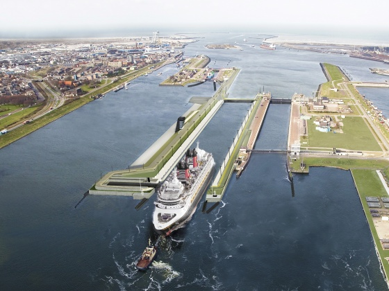 Sea lock at IJmuiden
