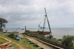First pile driven at petroleum jetty in Sierra Leone