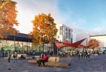 Lot 1 which is the supermarket image situated in the market square (credit Aecom).